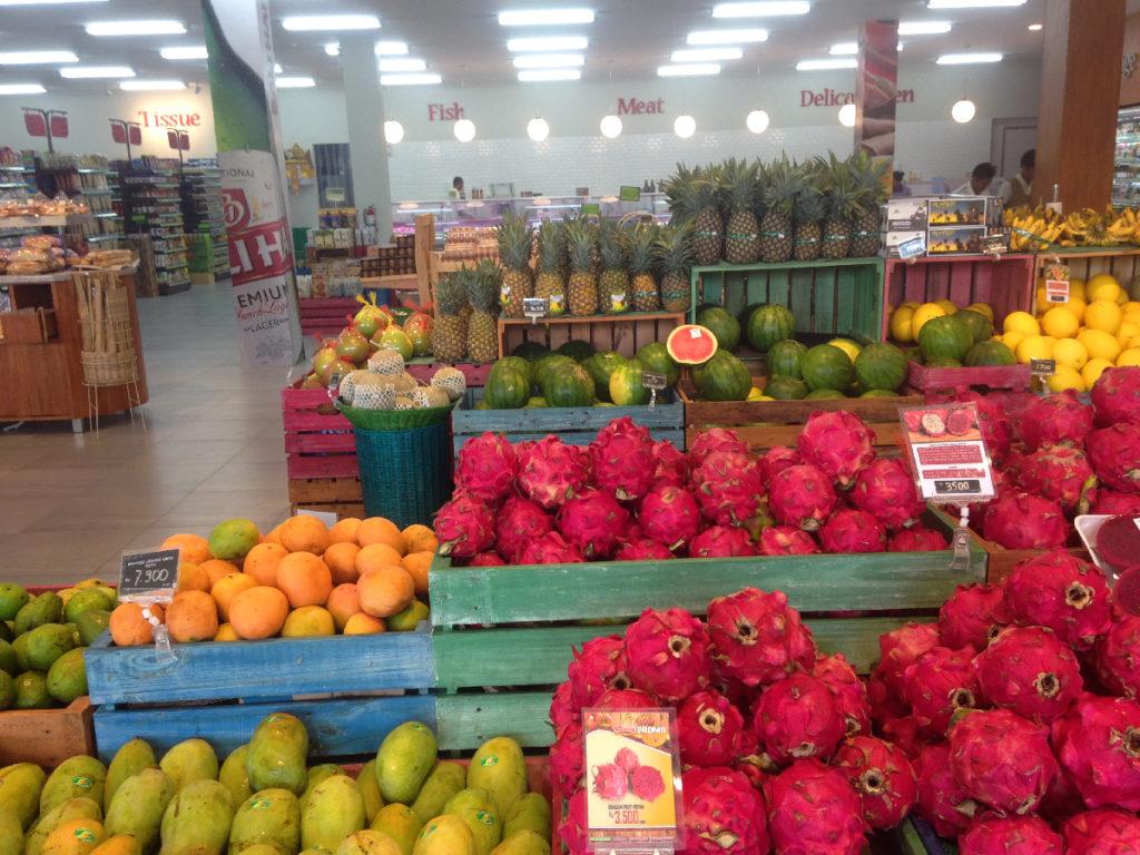 ovoce na bali