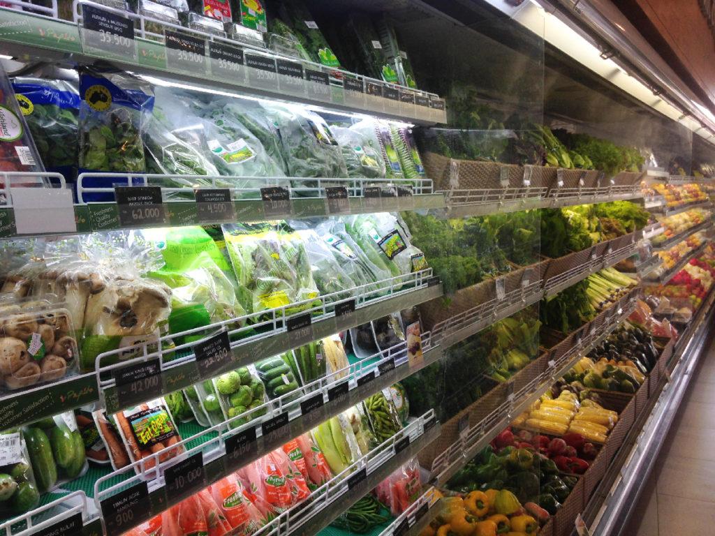 zelenina na bali