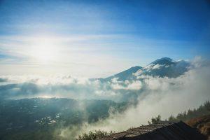 Výhled na horu Agung