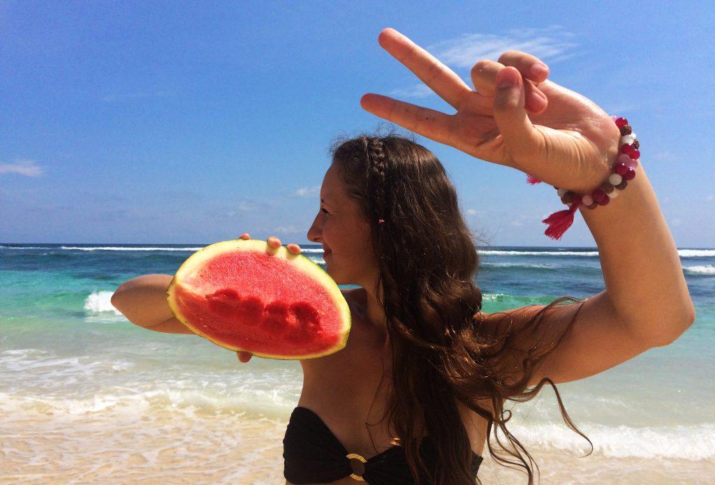 Meloun_na_pláži
